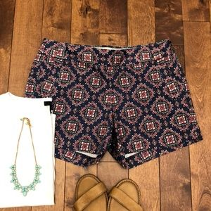 J Crew Stretch Short Patterned